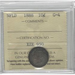 1888 Newfoundland 10 Cent