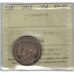 1913 Canada 25 Cent