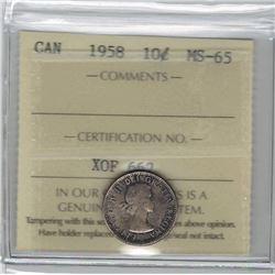 1958 Canada 10 Cent