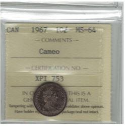 1967 Canada 10 Cent