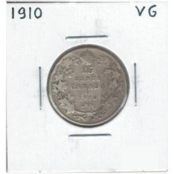 1910 Canada 25 Cent