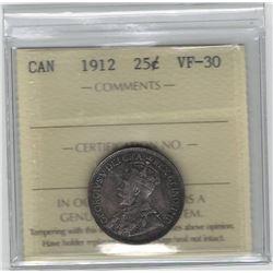 1912 Canada 25 Cent