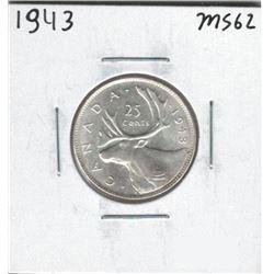 1943 Canada 25 Cent