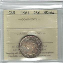 1961 Canada 25 Cent
