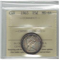 1965 Canada 25 Cent
