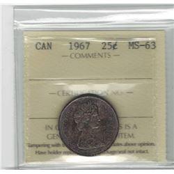 1967 Canada 25 Cent