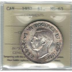 1937 Canada 1 Dollar