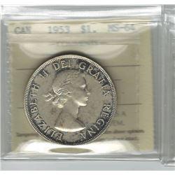 1953 Canada 1 Dollar