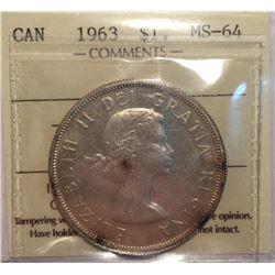 1963 Canada 1 Dollar