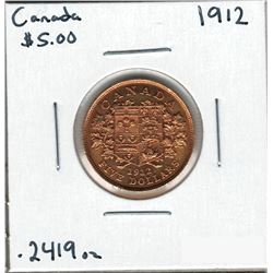 1912 Canada Gold Coin