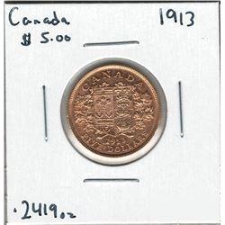 1913 Canada Gold Coin