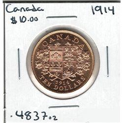 1914 Canada Gold Coin