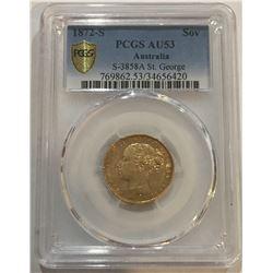 1872-S Australia Gold Coin