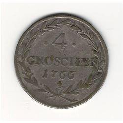 1766 German 4 Groschen