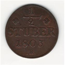 1803 German 1/2 Stuber