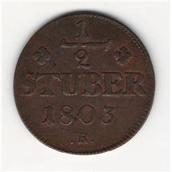 1803 German 1/2 Stuber