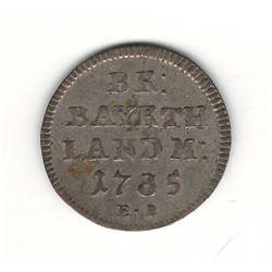 1785 German 2.5 Kreuzer
