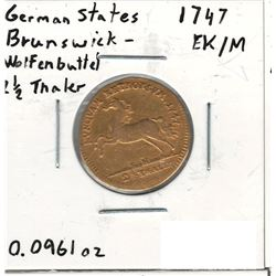 1747 German Gold Coin