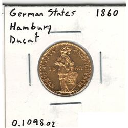 1860 German Gold Coin