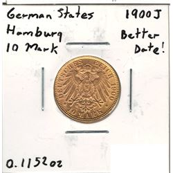1900-J German Gold Coin