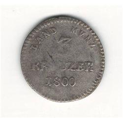 1800 German 3 Kreuzer