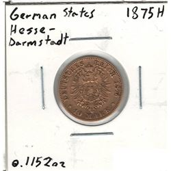 1875-H German Gold Coin