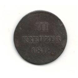 1818 German 3 Kreuzer