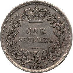 1834 Great Britain Shilling