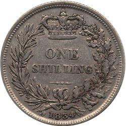 1834 Great Britain Shilling