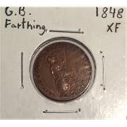 1848 Great Britain Farthing