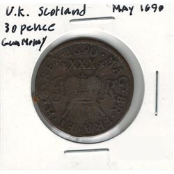 1690 Scotland 30 Pence