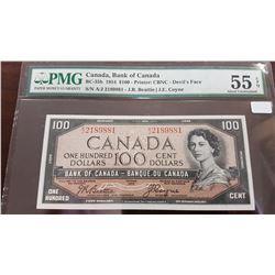 1954 Canada 100 Dollar Note