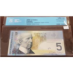 2009 Canada 5 Dollar Note THIS NOTE IS SOLD