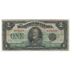 1923 Canada 1 Dollar Note