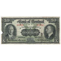 1931 Canada 10 Dollar Note