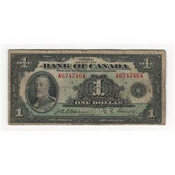 1935 Canada 1 Dollar Note