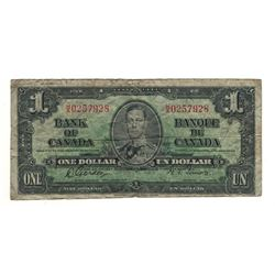 1937 Canada 1 Dollar Note