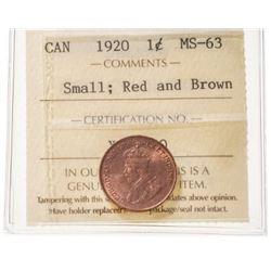 1920 Canada 1 Cent