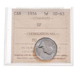 1954 Canada 5 Cent
