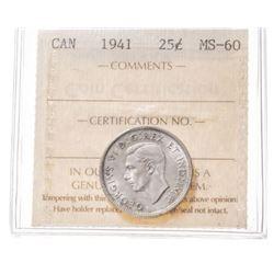 1941 Canada 25 Cent