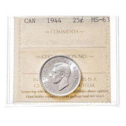 1944 Canada 25 Cent
