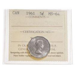 1961 Canada 5 Cent