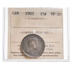 1903 Canada 25 Cent