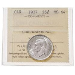 1937 Canada 25 Cent