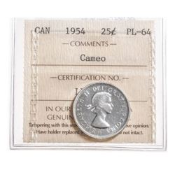 1954 Canada 25 Cent