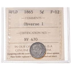 1865 Newfoundland 5 Cent