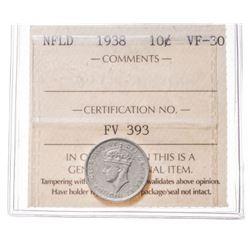 1938 Newfoundland 10 Cent