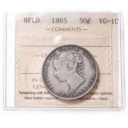 1885 Newfoundland 50 Cent