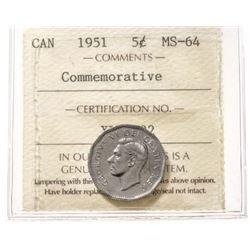 1951 Canada 5 Cent