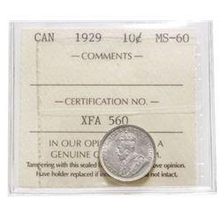 1929 Canada 10 Cent